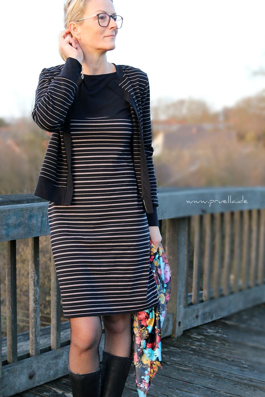 pruella stoffbüro streifenliebe Kleid lisbon