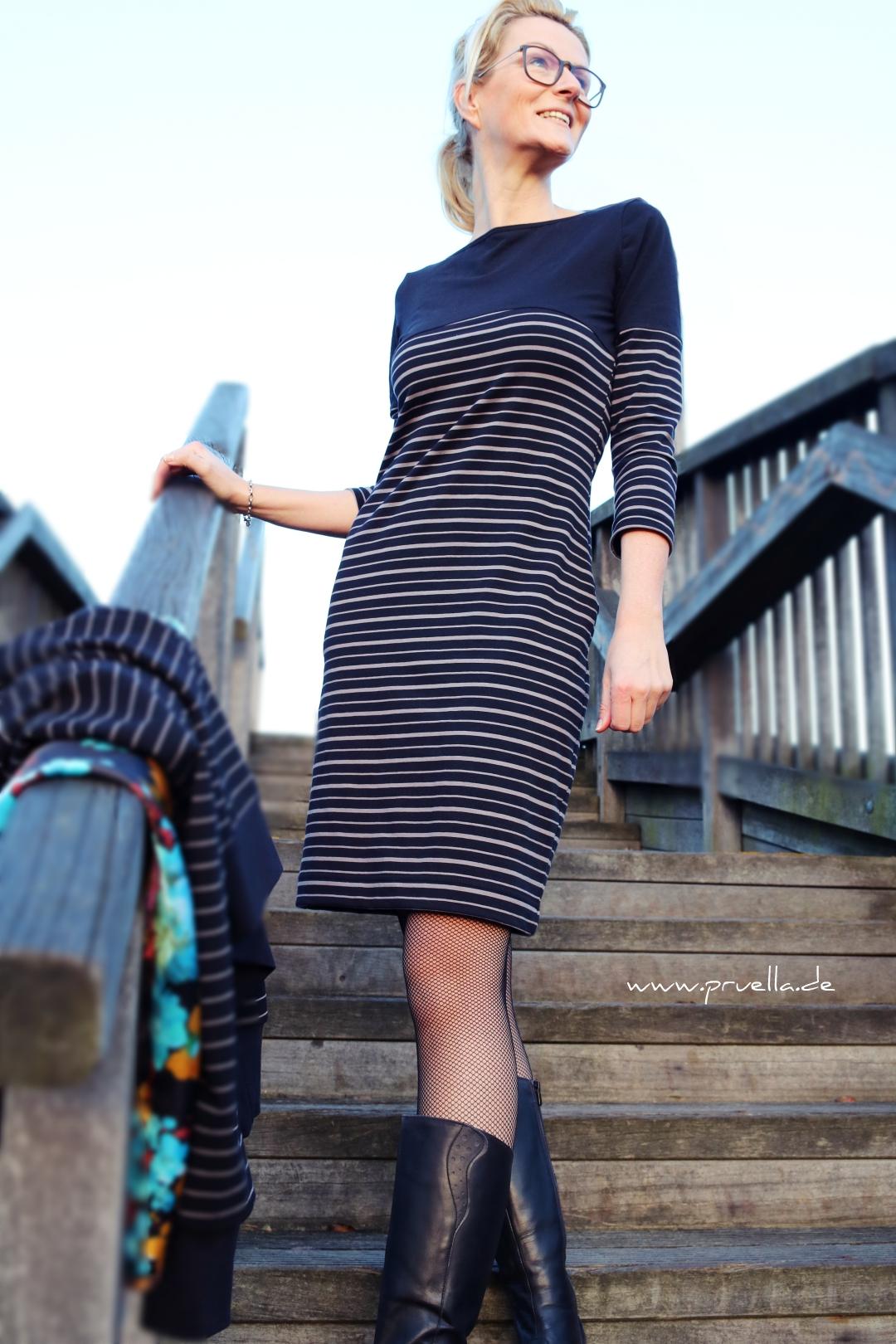 prülla stoffbüro Kleid Streifenliebe