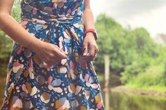 pruella, kielo wrap dress, juni design, hello heidi fabrics